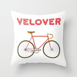 VeLover – Racer 2 – June 12th – 200th Birthday of the Bicycle Throw Pillow