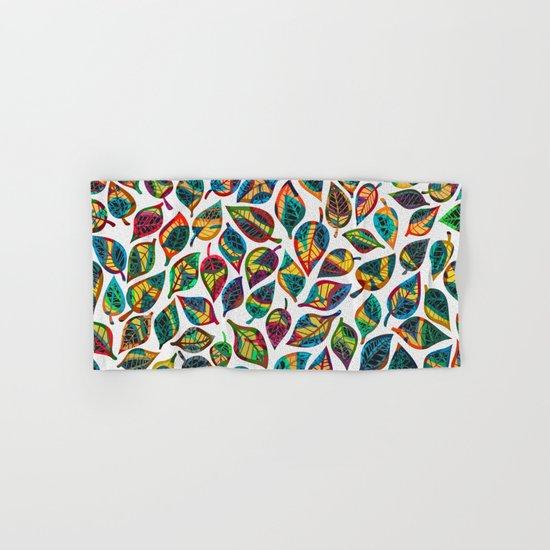 Multicolor Leaf Pattern 2 Hand & Bath Towel