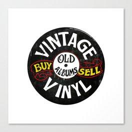 Vintage Vinyl Music Canvas Print