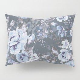 Blue FLORAL roses pattern Pillow Sham