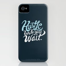Hustle While You Wait iPhone (4, 4s) Slim Case