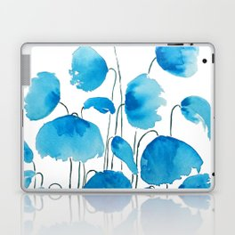 blue poppy field watercolor Laptop & iPad Skin