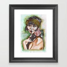 Flapper Girl Framed Art Print