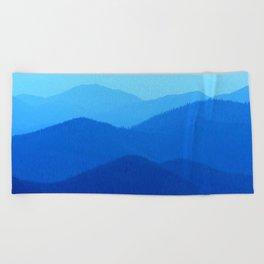 Hunter Mountain Spring Beach Towel