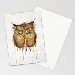 Vaguely Disturbing Owl Stationery Cards