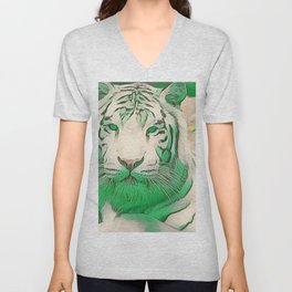 Green Tiger Unisex V-Neck