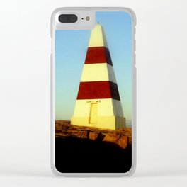 Obelisk on Cape Dombey Clear iPhone Case