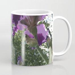 Giant Iris Stalks, purple green white, modified Coffee Mug