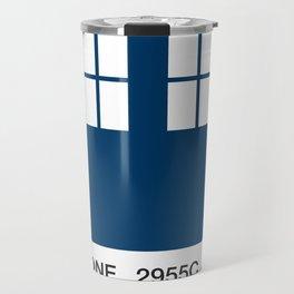 TARDIS Blue Pantone Travel Mug