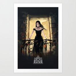 Along the Edge: Star/Moon Balcony Art Print