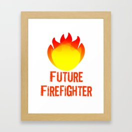 Future firefighter Framed Art Print
