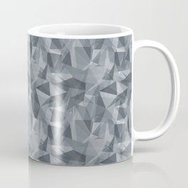 Abstract Geometrical Triangle Patterns 3 Benjamin Moore 2019 Trending Color Black Pepper Gray 2130-4 Coffee Mug