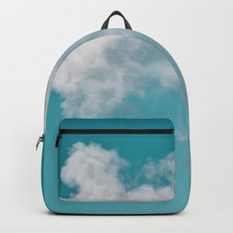 Floating cotton candy with blue green Backpack