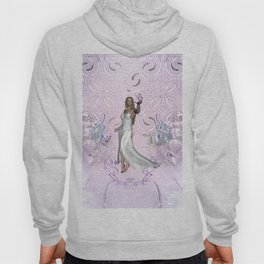 Wonderful fairy with dove and butterflies Hoody