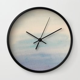 Ombre Sky Blue Watercolor Hand-Painted Effect Wall Clock