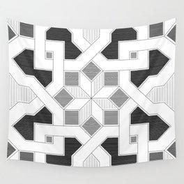 Oriental Pattern - Geometric Design - lines Wall Tapestry