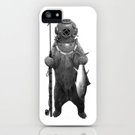 Harpoon Fishing Bear iPhone Case