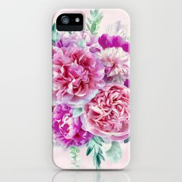 Beautiful soft pink peonies iPhone Case