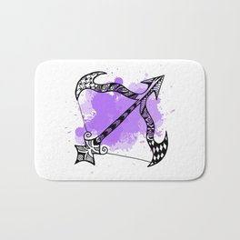 Zodiac Zentangle - Sagittarius Bath Mat