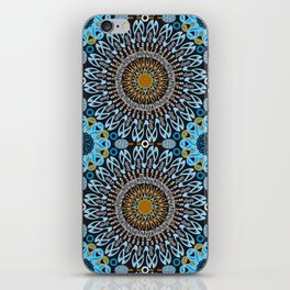 Calligraphic Boho (Blue) iPhone Skin