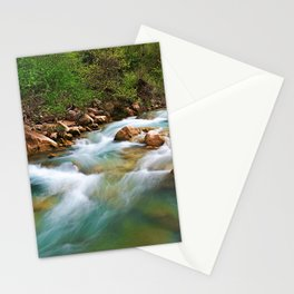 Water flow and rocks in Neda river, Peloponnese, Greece. Stationery Cards