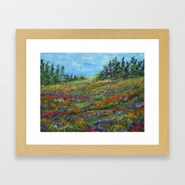 Where The Poppies Grow, Impressionism Painting Framed Art Print