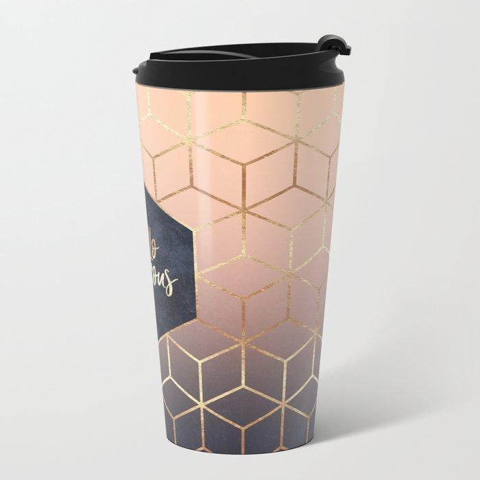 Hello Gorgeous Metal Travel Mug