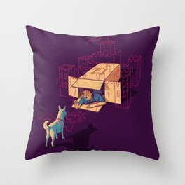 Halt! Who Goes There? Throw Pillow