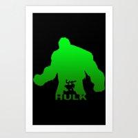 hulk Art Prints featuring Hulk by Sport_Designs