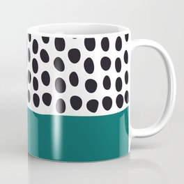 """Elegant Handpainted Polka Dots with """"Shaded Spruce"""", Fall, Autumn Color Coffee Mug"""
