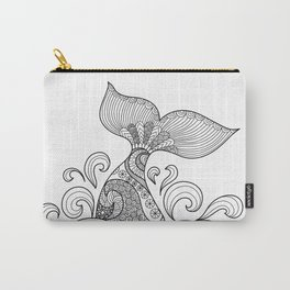 Whale Tail Style - Sea World and Ocean Zentangle Animal Design Carry-All Pouch