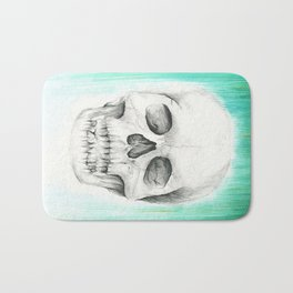 Fall with Water - Skull Bath Mat