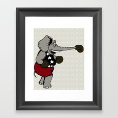 Boxing Elephant Framed Art Print