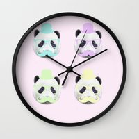 gentleman Wall Clocks featuring Gentleman by Panda Cool