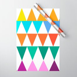 Triangles of Color Wrapping Paper
