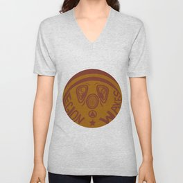 Legion Wakes Red and Brown Unisex V-Neck