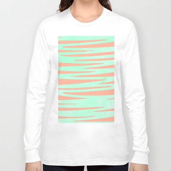 Sweet Life Soft Serve Peach Coral + Mint Meringue Long Sleeve T-shirt
