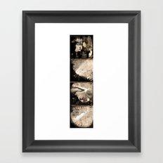Black to white (full serie) Framed Art Print