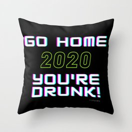 GO HOME 2O20 Throw Pillow