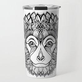 MONKEY head. psychedelic / zentangle style Travel Mug