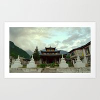 Temple in the Mountains Art Print