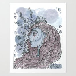 Shades of purple Art Print