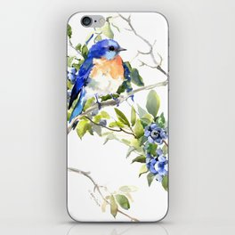 Bluebird and Blueberry iPhone Skin