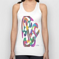 inspiration Tank Tops featuring Inspiration by SaraLaMotheArt