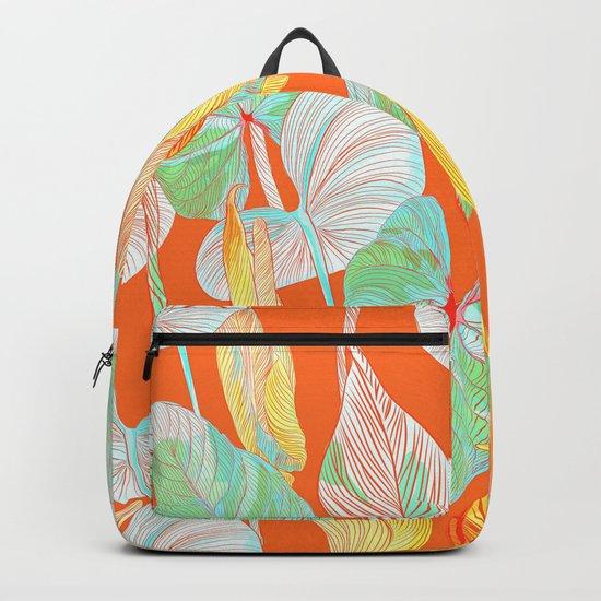 Lush Lily - orange zest Backpack