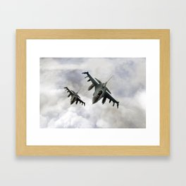 F16 Fighting Falcons Framed Art Print