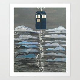 Doctor Who Magical Staircase Art Print
