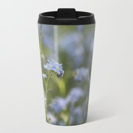 Forget me not in LOVE - Blue Flower Floral Spring Flowers on #Society6 Travel Mug