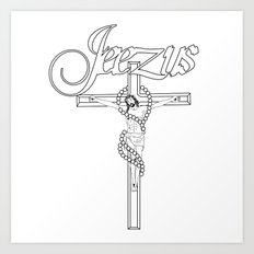 JEEZUS Art Print