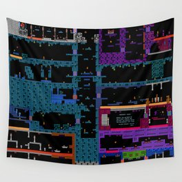 Space Platformers Wall Tapestry